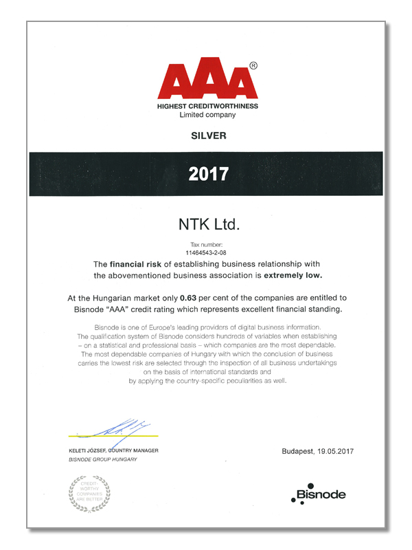 AAA - Highest Creditworthiness Limited Company